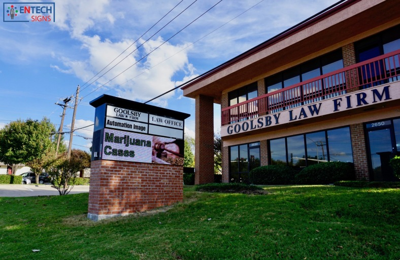 Advertising Services on Full Color LED Sign Gets Goolsby Law